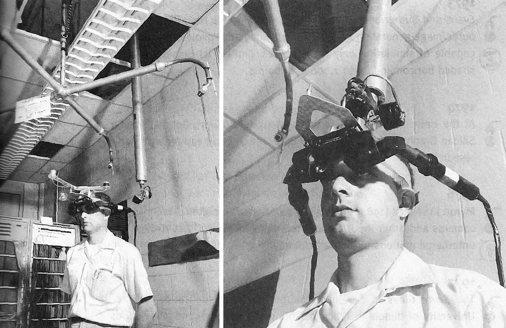 The Sword of Damocles, invented by Ivan Sutherland