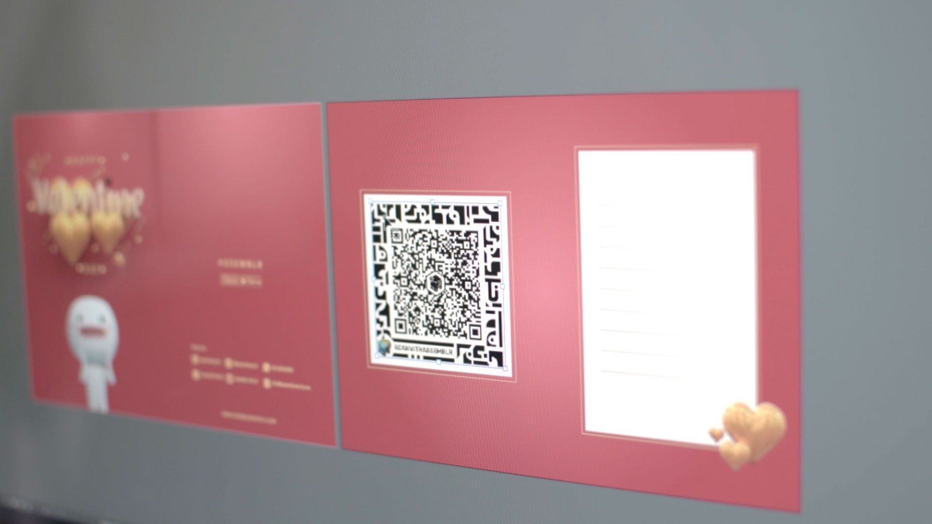 Insert augmented reality on your greeting card