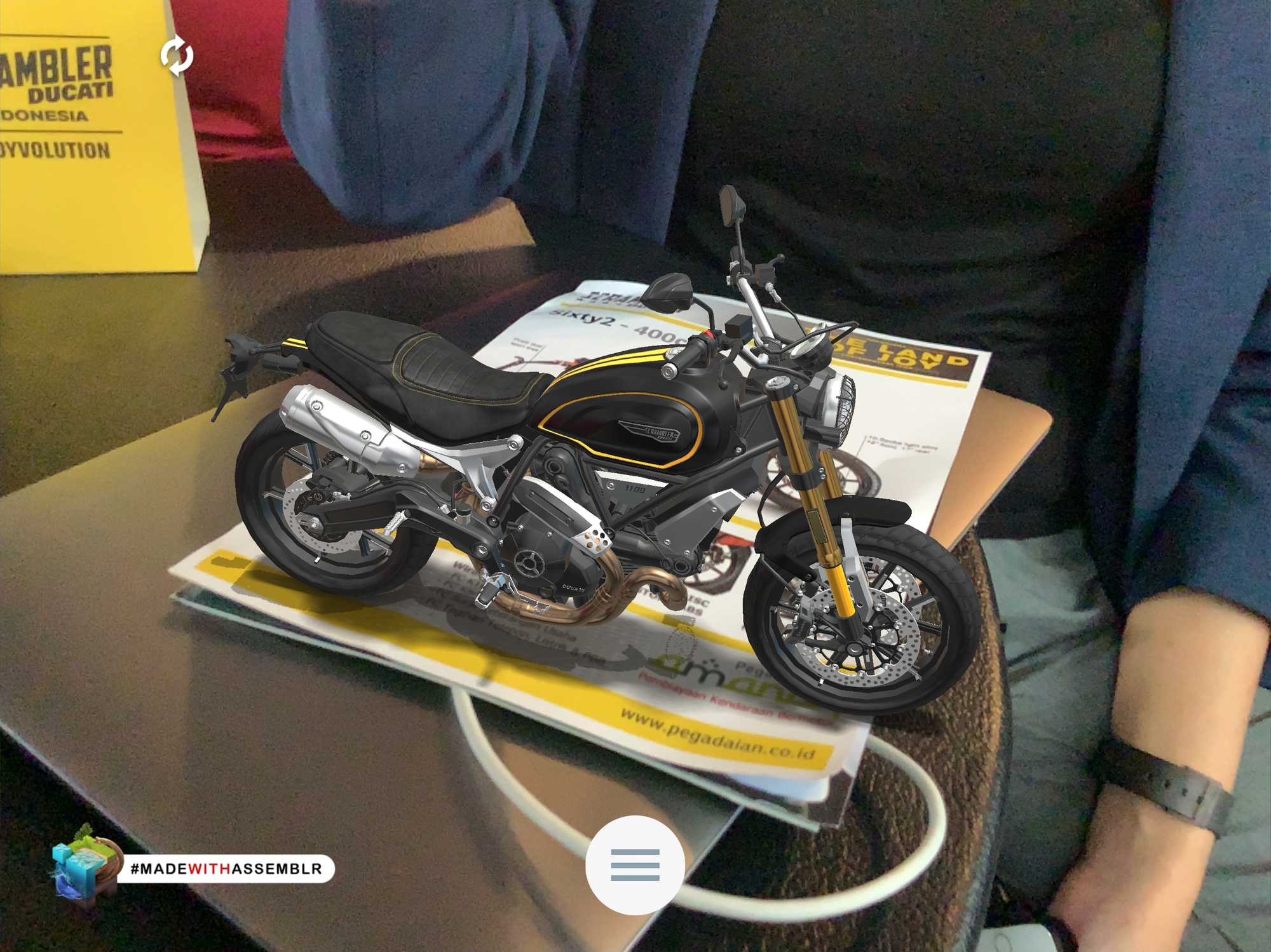 Ducati Augmented Reality Experience - Assemblr