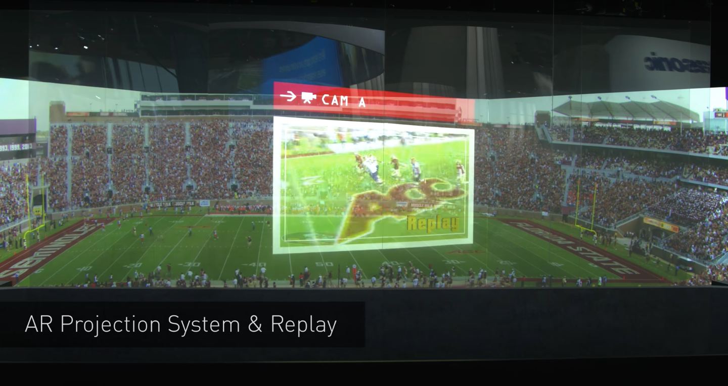Augmented reality experiences in sport stadium