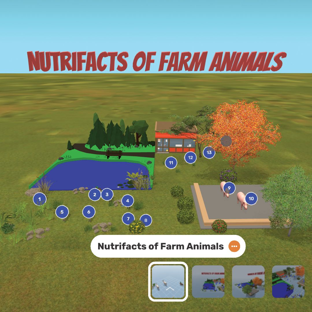 Augmented reality creations about nutrition of farm animals