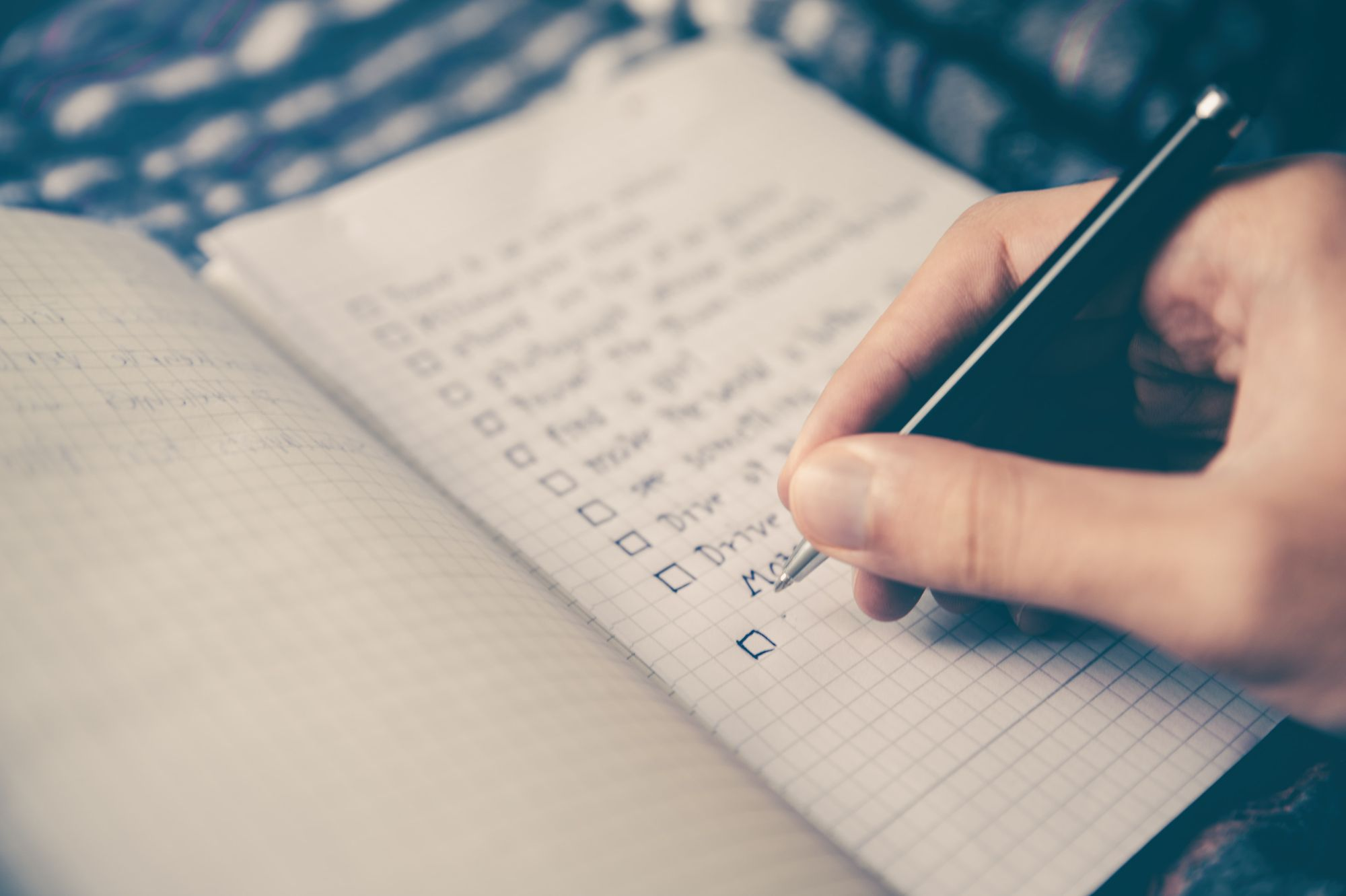 A teacher planning a schedule for lesson plan