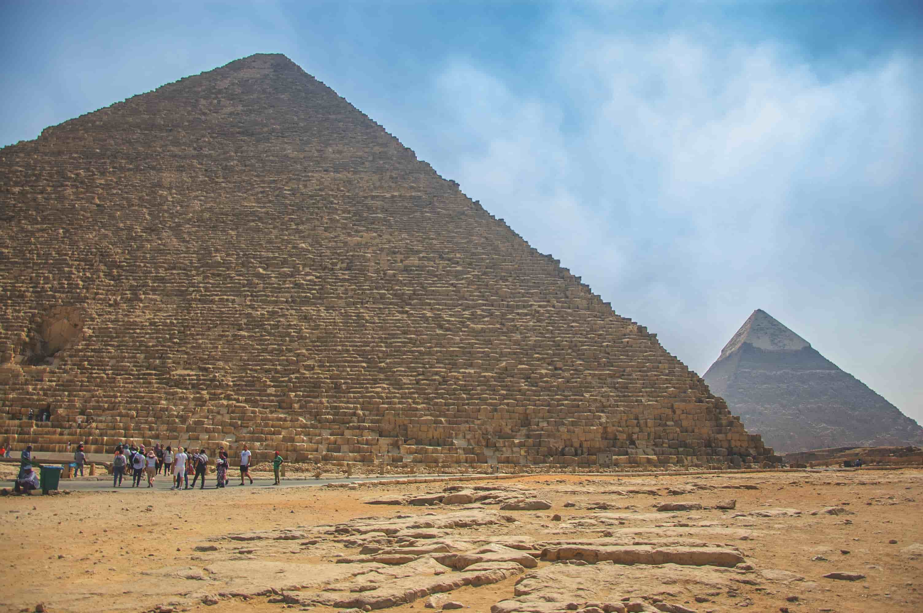 The Great Pyramid of Giza in the afternoon