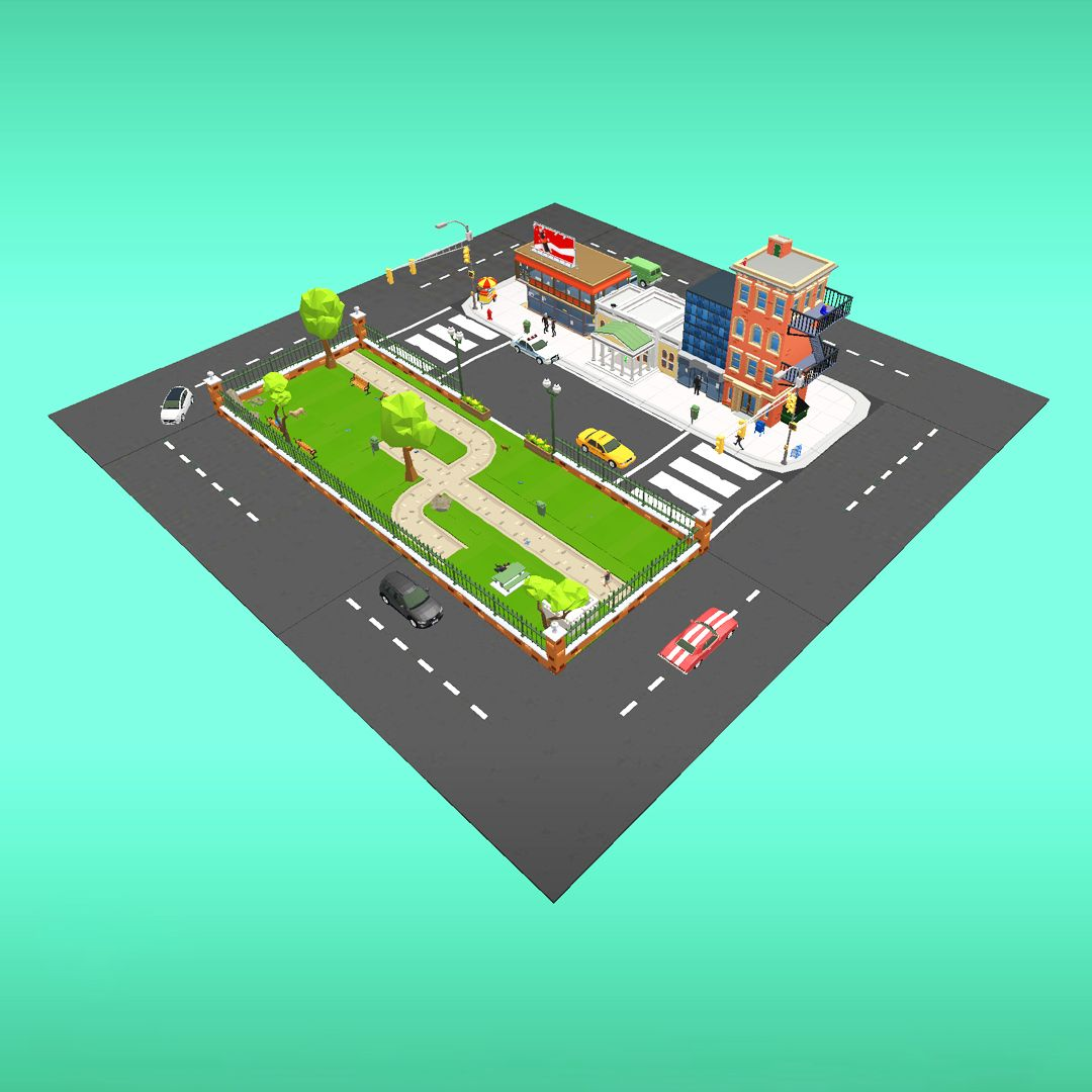 An augmented reality project about a city