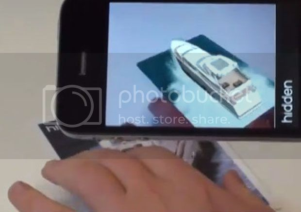 A ship appearing on Thomson Cruises augmented reality brochure.