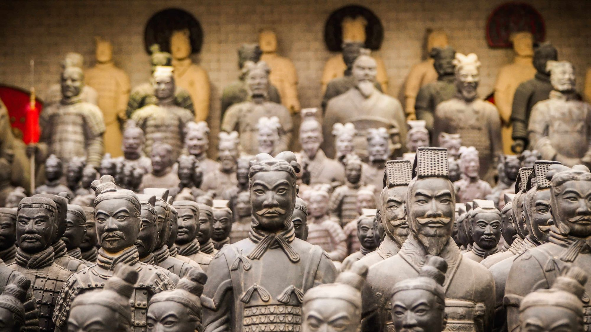 The statues of Terracotta Army.
