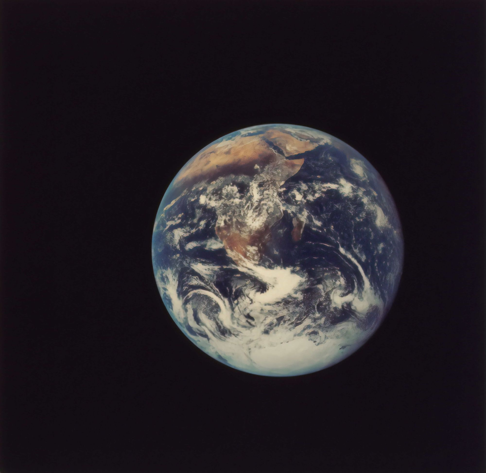 The Earth captured in 1972 from Apollo.