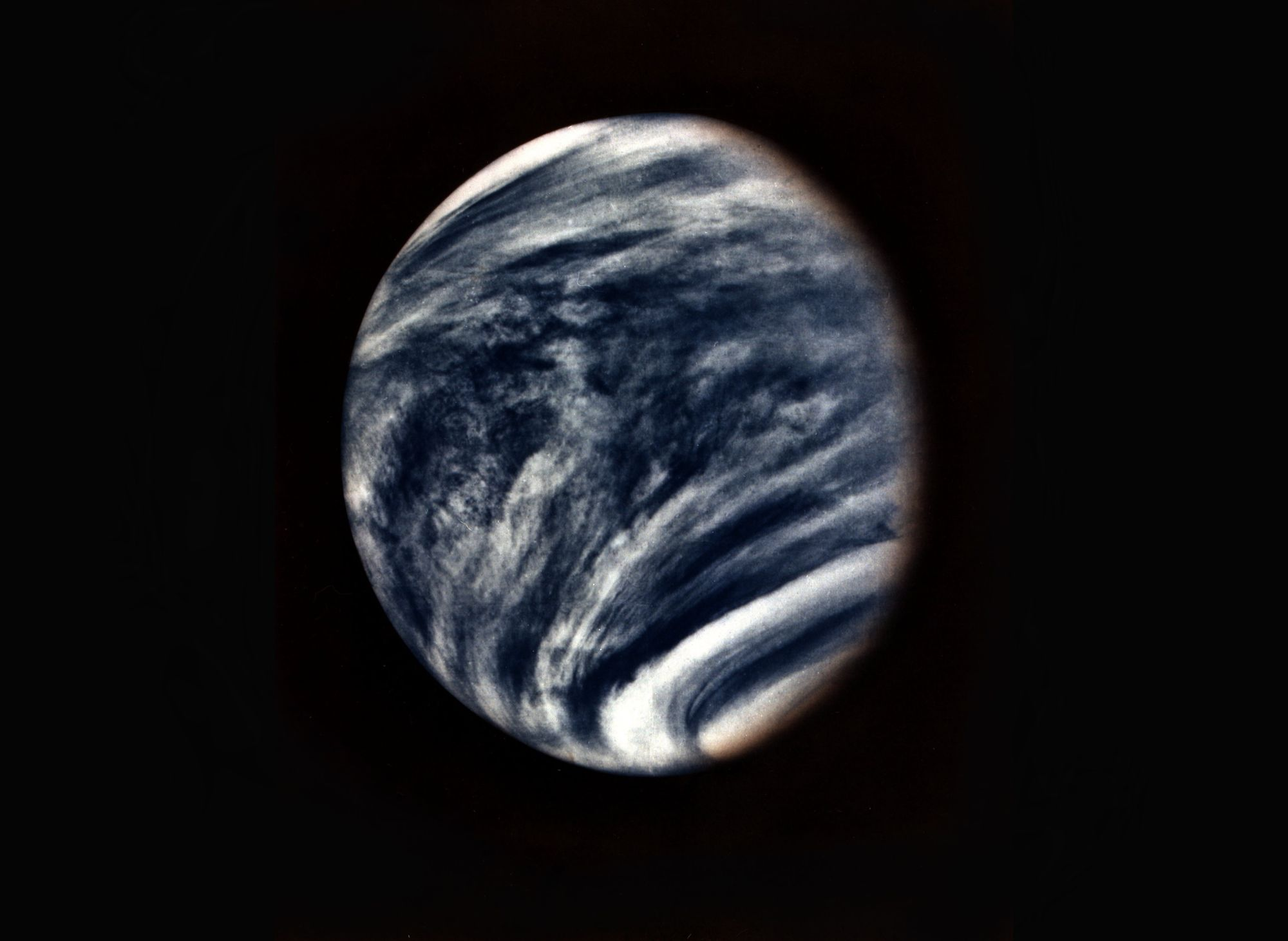 The planet Venus captured in the early 1974.
