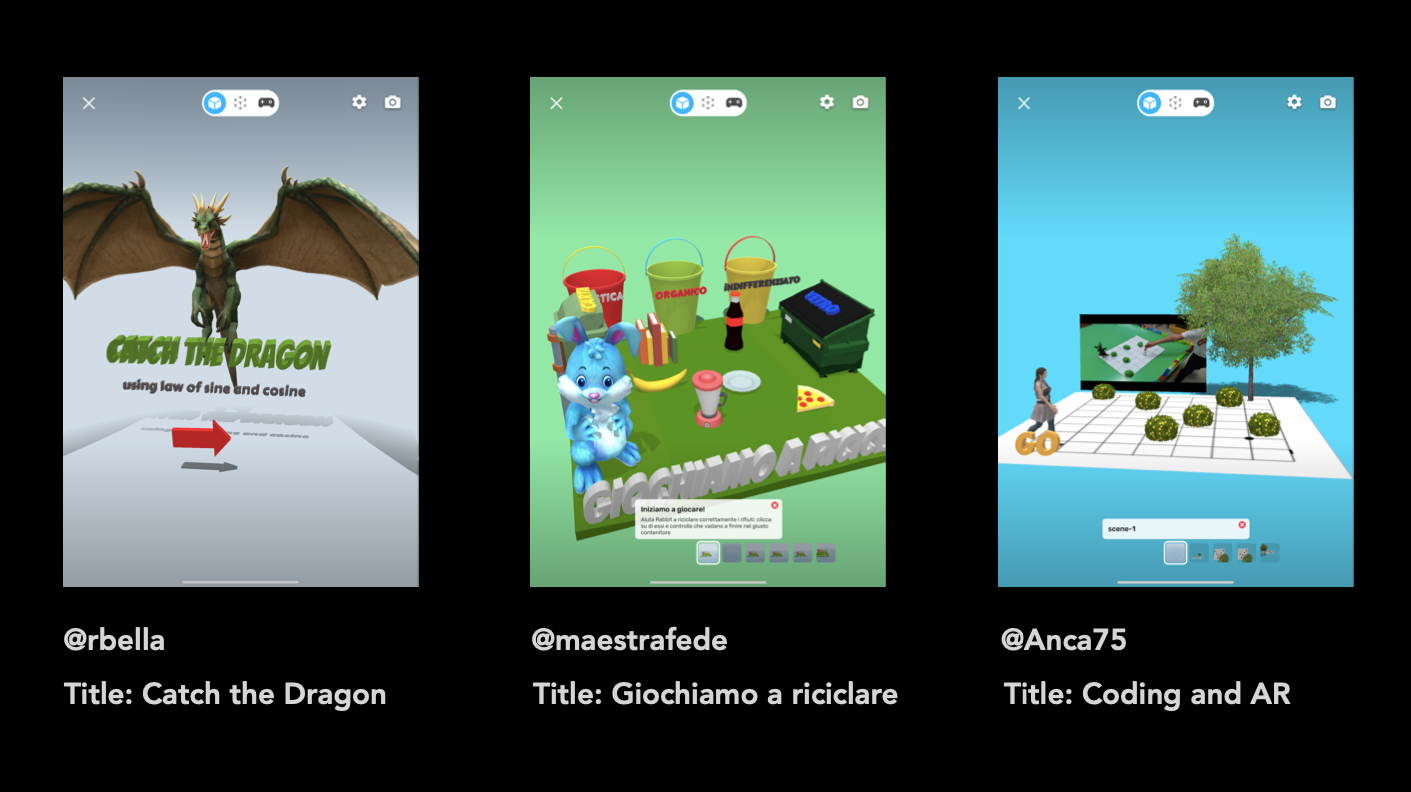 Creative augmented reality lessons