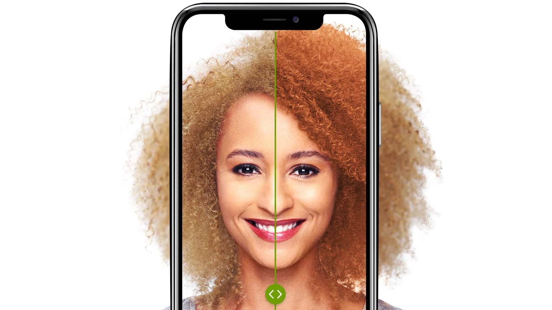 Garnier's augmented reality (AR) try-on.