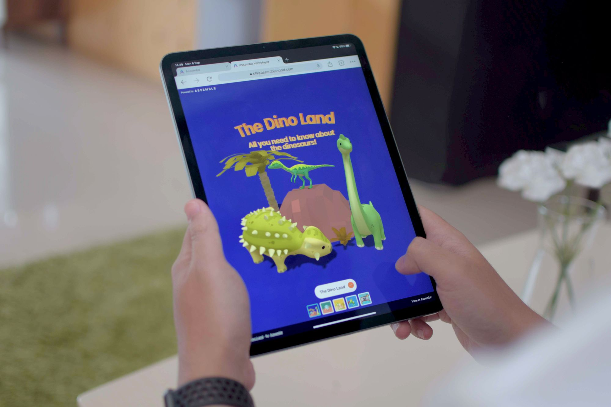 Accessing 3D and augmented reality (AR) contents easily in Assemblr Web Player